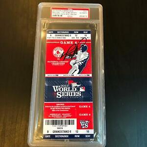 David Ortiz Signed 2013 World Series Game 6 Full Ticket MVP Boston Red Sox PSA