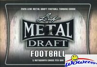 2020 Leaf Metal Draft Football EXCLUSIVE Factory Sealed HOBBY Box-5 AUTOGRAPHS!
