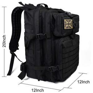 45L Military Tactical Backpack Rucksack Hiking Sport Camping Trek Travel Bag UK