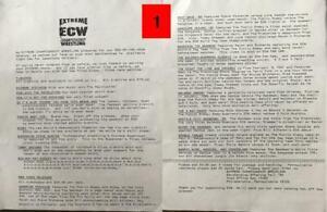 Lot of 5 ECW Original Merchandise Catalogs (Pro Wrestling) RARE, RETRO!