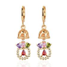 New Style Women Multi-color CZ Cubic Zirconia Dangle Drop Earrings Jewelry