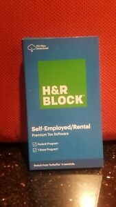 2020 H&R BLOCK SELF-EMPLOYED RENTAL PREMIUM TAX SOFTWARE FEDERAL STATE PC/Mac