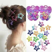 12PC/Set Kids Barrettes Girls' BB Clip Candy Color Hair Clips Accessory Gift New