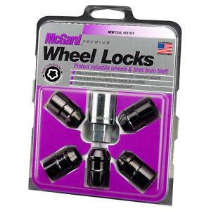 McGard Black Cone Seat Wheel Lock Set 1/2-20  For 60-13 Dodge/Ford/Jeep #24548