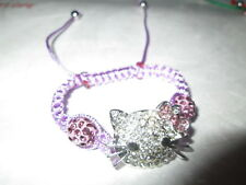 Ladies Fashion Shamballa Bead Hello Kitty Bracelet Brand New