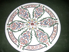 18'' White Marble Round Top Coffee Table Marquetry Inlay Malachite Bedroom Decor