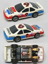 TOMY Turbo #9 ZEREX Alan Kulwicki inspired HO Slot Car Test Lapped Quick & Agile