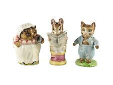 3 Beswick Figurines Beatrix Potter Tailor Gloucester Mrs Tiggywinkle Tom Kitten