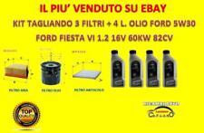 KIT TAGLIANDO FORD FIESTA VI 1.2 16V 60KW 82CV DAL 06/2008 + OLIO FORD 5W30