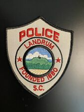 Landrum South Carolina SC Police Patch