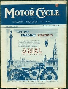 THE MOTORCYCLE MAGAZINE-  MAY  20th 1948 - SWISS GRAND PRIX