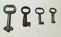 """4 Antique Keys Original 1 3/4""""  1 1/4""""  1 1/8""""  1"""""""
