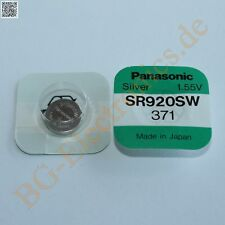 1 x SR920SW Silver Oxid Battery Type: 371 Panasonic  1pcs