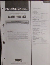 Sansui T-E50/E50L tuner service repair workshop manual (original copy)