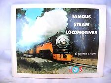 1974 Railroad Book,Famous Steam Locomotives-By Richard J. Cook-Lots of Pictures