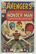 1964 MARVEL THE AVENGERS #9 1ST APPEARANCE WONDER MAN (WATER STAINS) VG/FN    S1
