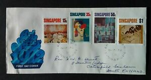 Singapore 1972 SG174/7 Contemporary Art Addressed FDC Information Card Enclosed
