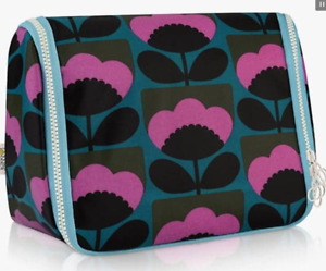 ORLA KIELY SPRING BLOOM HANGING WASH TOILETRY COSMETIC BAG BRAND NEW RRP £38