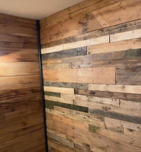 Reclaimed Rustic SANDED Pallet CLADDING DIY Timber planks. Recycled,Eco Friendly