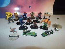 DOUGRAM MECH/VEHICLE/TRANSPORT MINIATURES LOT (BATTLETECH, 18 PLASTIC PIECES)