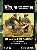 Verlinden 1:35 German Tankers Roadmap without Map - 2 Resin Figures Kit #2685
