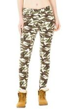Camouflage High Rise Trousers for Women