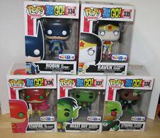 Funko Pop Teen Titans Go Justice League Complete Set of 5 NIB Robin Raven TRU