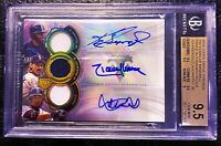 2019 Topps Triple Threads Ichiro Ken Griffey Jr. Johnson Jersey AUTO /9 BGS 9.5