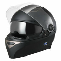 DOT Motorcycle Full Face Helmet Dual Visor ABS Scooter Motorbike Touring Sports