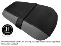BLACK /& GREY CUSTOM FITS CAGIVA MITO 125 95-07 FRONT LEATHER SEAT COVER