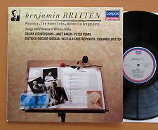 Britten Phaedra Poet's Echo etc Vishnevskaya Baker Pears LONDON 417 313-1 NM/EX
