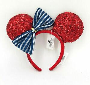 Disney Parks Anchor 2021 Shanghai Minnie Ears Purple Red Mickey Mouse Headband