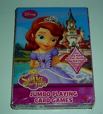 DISNEY PRINCESS SOPHIA THE FIRST JUMBO PLAYING CARD GAMES