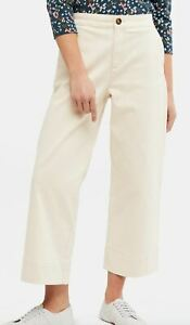 White Stuff Womens Thea Wide Leg Comfort Fit Crop Summer Trouser Ladies Jean