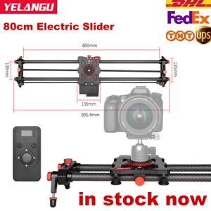 YELANGU Electric Slider 80cm Motorized Silent Motor Remote Cotrol Fr DSLR Camera