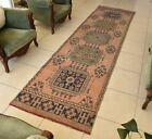 Turkish Runner Rug 3x11.2 ft Traditional Anatolian Handmade Oriental Carpet C44
