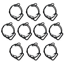 10 PACK Stage Light Safety Security Snap Wire Cable Black Stainless Steel 25.5''