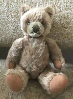 """❤️STEIFF ~ORIGINAL TEDDY BEAR~ 0202/26 JOINTED 10"""" 1968-80 CARMEL MOHAIR VTG❤️"""