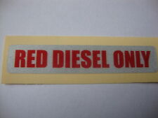 4x REFLECTIVE RED DIESEL ONLY STICKERS FARM  LORRY TRACTOR AGRICULTURE  FARMING
