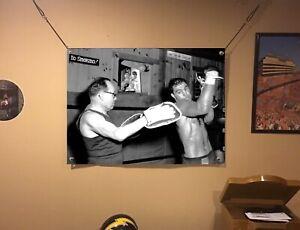 HUGE! 44x31 ROCKY MARCIANO vinyl BANNER POSTER mike tyson Conor Mcgregor art.!