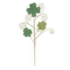 Darice Saint Patrick Shamrock Pick: Green, 11.5 inches w