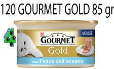 GOURMET GOLD 120 SCATOLETTE DA 85 GR PER GATTO GATTI MOUSSE DADINI PATE'