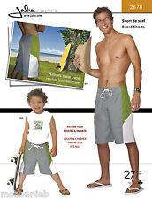 Jalie Board Shorts Sewing Pattern 2678 in 27 Sizes Men's & Boys