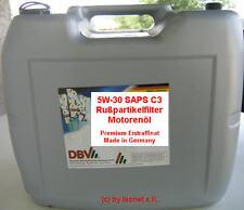 (GP:3,97€/L) 20 Ltr 5W30 SAPS C3 Rußpartikelfilteröl Motoröl MB BMW VW Opel LL04