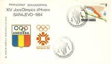 PREMIER JOUR ANDORRE J.O. HIVERS SARAJEVO 1984 SKI