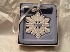 Wedgwood Figural Snowflake Ornament New In Box 2014