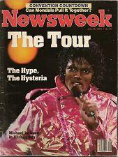 1984 MICHAEL JACKSON ON TOUR Complete Original Newsweek Magazine Color Photos