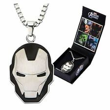 Avengers Iron Man Face Stainless Steel Pendant Necklace Marvel Comics NEW