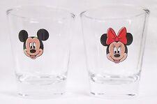 Mic key Mouse & Min nie Mouse Images on 2-pc. Shot Glass Set  Lot #2