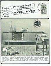 PUBLICITE ADVERTISING 126  1969   salle de séjour Roche &Bobois meubles